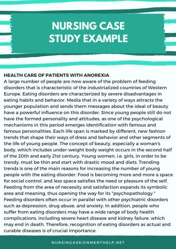 Nursing Case Study Example