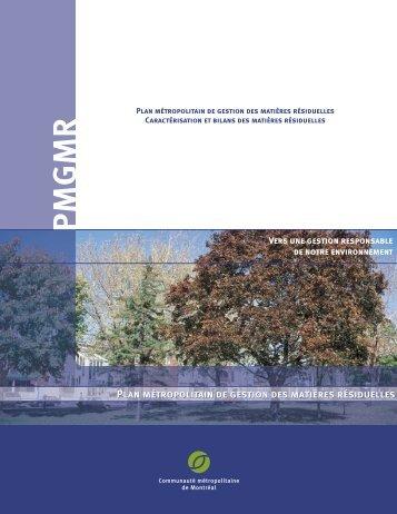 PMGMR Plan métropolitain de gestion des matières résiduelles
