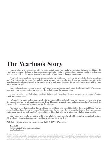 2018 YHIS Yearbook
