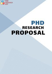 PhD Research Proposal Sample