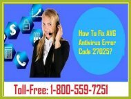 Fix AVG Antivirus Error Code 27025 Dial 1-800-559-7251