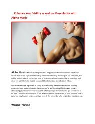 Increase Your Endurance power with Alpha Maxis