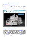Fine Quality Quartz Powder Supplier in India Earth MineChem - Page 2