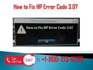 1-800-213-8289 Fix HP Error Code 3.0