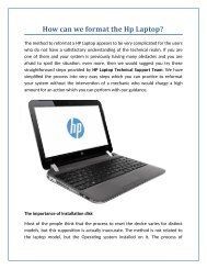 How can we format an HP Laptop