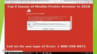 2018 Top 5 Issues of Mozilla Firefox Browser 1-800-358-0071