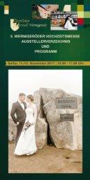 Ausstellerverzeichnis zur Hochzeitsmesse 2017