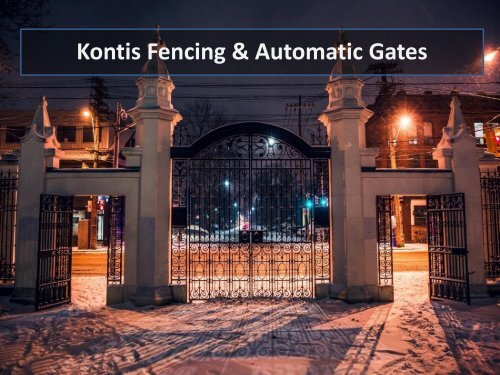 Cost-Effective Colorbond Fencing & Gates in Melbourne by Kontis Fencing