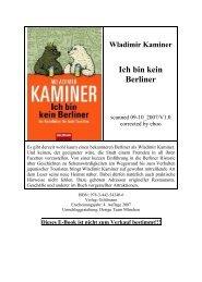 Wladimir Kaminer Ich bin kein Berliner