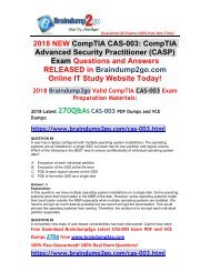 (June-2018-Version)Braindump2go CAS-003 Dumps PDF 270Q Free Share(89-99)