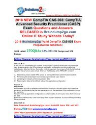 (June-2018-Version)Braindump2go CAS-003 Dumps VCE 270Q Free Share(67-77)
