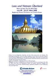 Laos und Vietnam Überland - Fritsche Reisen AG