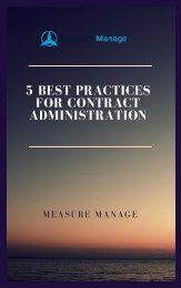 5 Best Practices For Contract Administration.