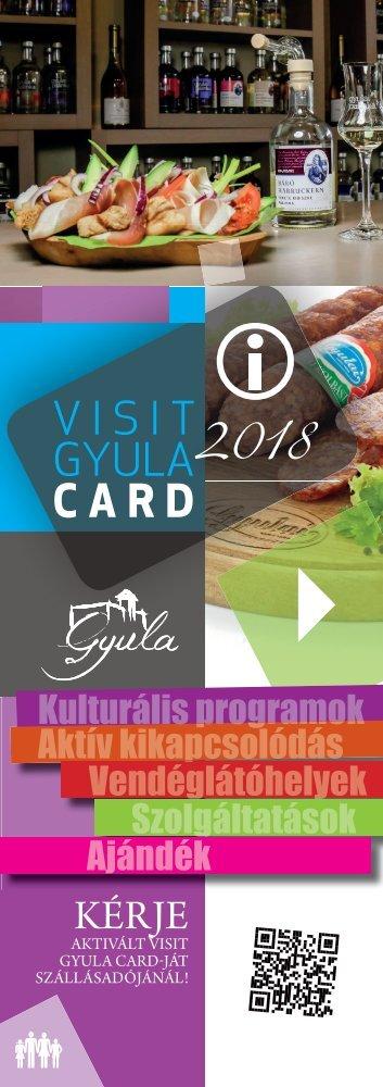 Visit Gyula Card Magazin 2018 Szolgáltatások