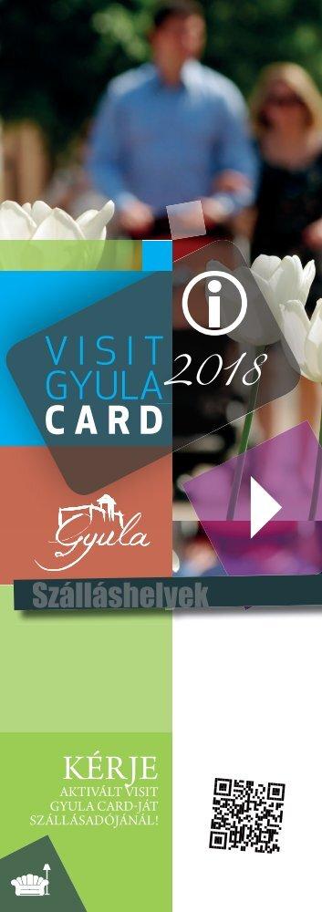 Visit Gyula Card 2018 Szálláshelyek