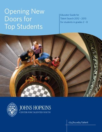 Opening New Doors for Top Students - Johns Hopkins Center for ...