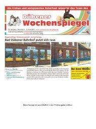 Dübener Wochenspiegel - Ausgabe 06 - 12_04_2017