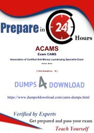[100% Valid!] CAMS Dumps-CAMS PDF-CAMS VCE 327Q&As