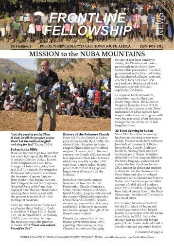 Frontline Fellowship News Edition 1 of 2018