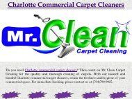 Charlotte Commercial Carpet Cleaners
