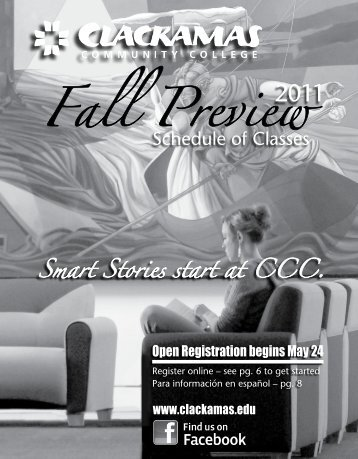 Fall Preview 2011 - Clackamas Community College Intranet