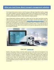 What you must know about transport management solutions