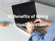 10 Benefits of Hiring a Virtual Assistant