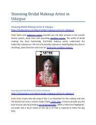 Stunning Bridal Makeup Artist in Udaipur