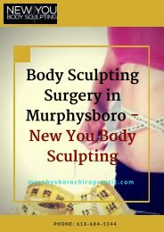 Body Sculpting Surgery in Murphysboro -New You Body Sculpting