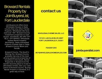 Broward Rentals Property by JoinBuyersList, Fort Lauderdale
