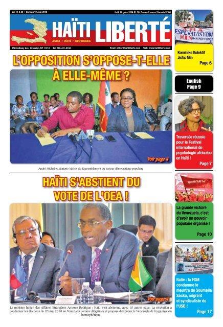 Haiti Liberte 6 Juin 2018