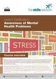 CACHE Level 2 Certificate in Awareness of Mental Health Problems