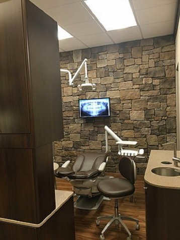 Dental chair at Eagle Grove IA dentist Moffitt Dental Center