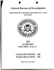 Federal Bureau ofInvestigation - FBI Files on Puerto Ricans