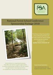 Forest School Festival Sponsorship Package 2018