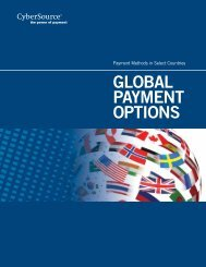 GLOBAL PAYMENT OPTIONS - CyberSource