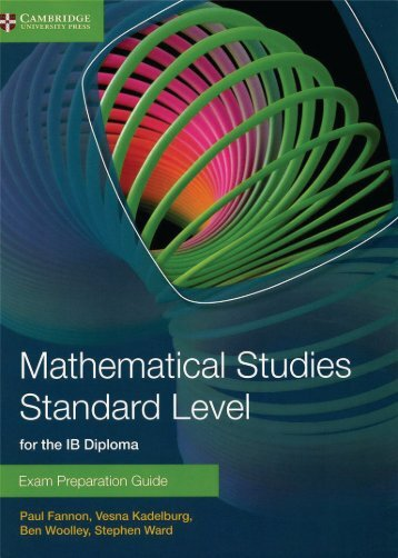 9781107631847, Mathematical Studies Standard Level for the IB Diploma Exam Preparation Guide SAMPLE40