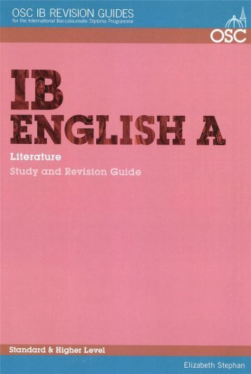 97881907374715, English A Literature Study and Revision Guide SL HL SAMPLE40