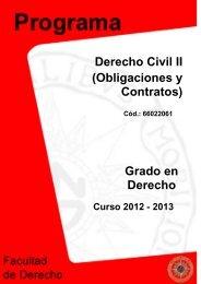 Derecho Civil II (Obligaciones y Contratos) Grado en Derecho - UNED