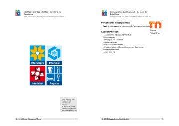 Persönlicher Messeplan für: Auswahlkriterien: - InterCool
