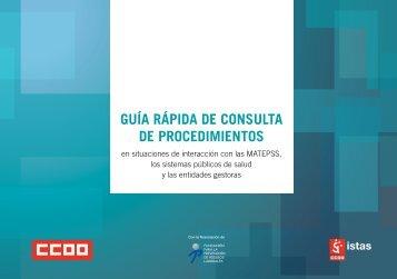 Guía rápida de consulta de procedimientos - Istas - CCOO