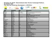 Teilnehmer (PDF, 560 kB) - Austria Solar
