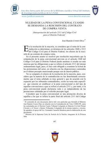nulidad de la pena convencional cuando se demanda - UNAM