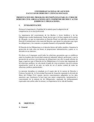 Derecho Civil (Obligaciones) - Facultad de Derecho - Universidad ...