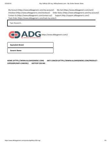 Buy Gefticip 250 mg _ AllDayGeneric.com - My Online Generic Store