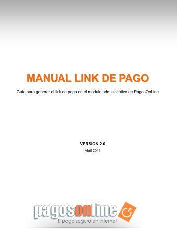 MANUAL LINK DE PAGO - Pagosonline