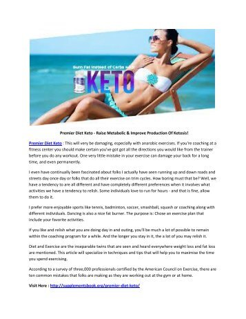 "Premier Diet Keto - Weight Loss Supplement ""Quick Fat Burning"