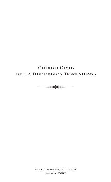 Codigo Civil Dominicano - ProConsumidor