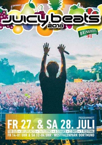 Juicy Beats Festival 2018 - Programmheft
