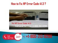 1-800-213-8289 Fix HP Error Code 41.3